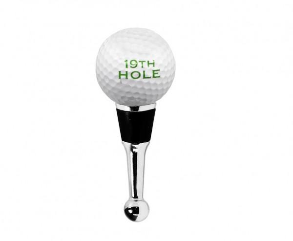 Flaschenverschluss Golf für Champagner, Wein und Sekt, Höhe 11 cm, Muranoglas-Art, Handarbeit