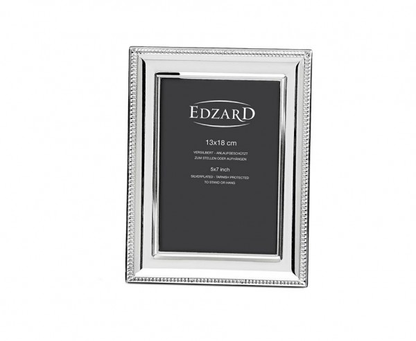 Fotorahmen Novara für Foto 13 x 18 cm, edel versilbert, anlaufgeschützt, mit 2 Aufhängern