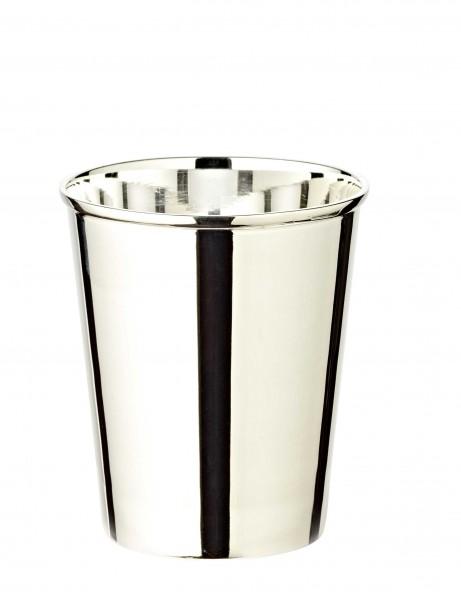 Silberbecher Trinkbecher Becher Mido, edel versilbert, Höhe 9 cm