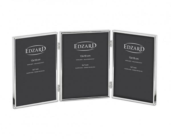 Dreifach-Fotorahmen Genua für 3 Fotos 13 x 18 cm, edel versilbert, anlaufgeschützt