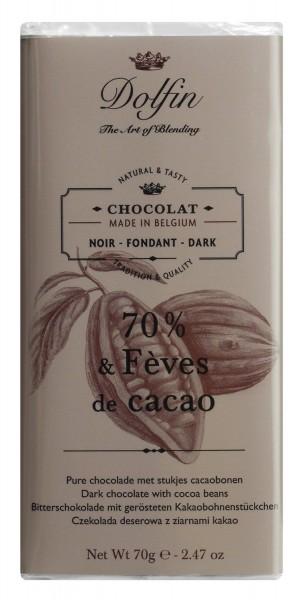 Dolfin Zartbitterschokolade mit Kakaosplittern