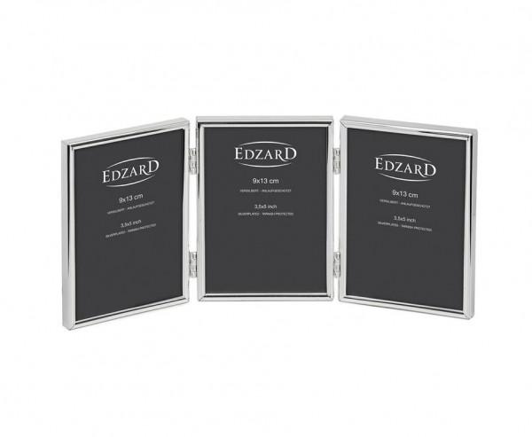 Dreifach-Fotorahmen Genua für 3 Fotos 9 x 13 cm, edel versilbert, anlaufgeschützt