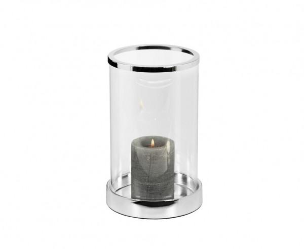 Windlicht Sanremo, edel versilbert, anlaufgeschützt, Höhe 26 cm, Ø 16,5 cm