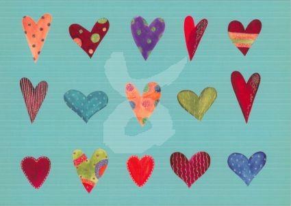 Herzen Kunstkarte