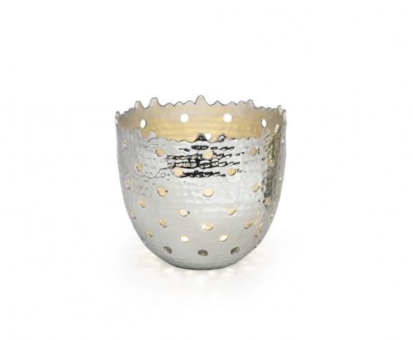 Teelichtleuchter Fin H 9 cm