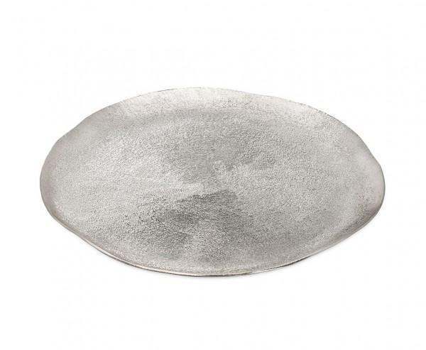 Dekoteller Teller Grissel, Aluminum, gebürstet, vernickelt, Ø 32 cm