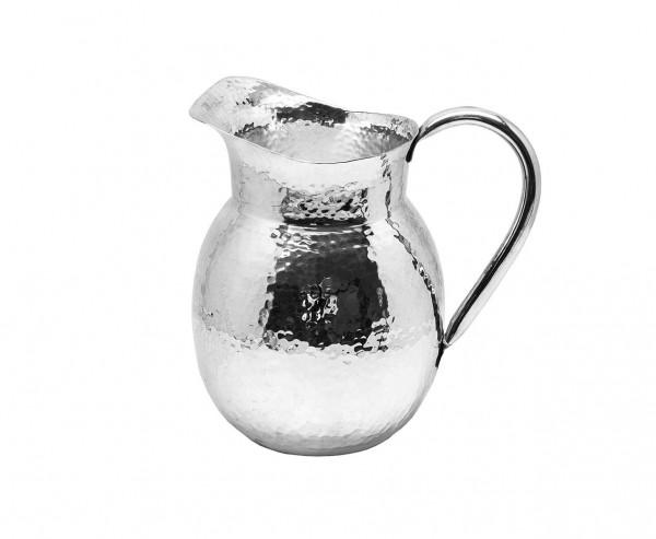 Krug Kanne Karaffe Etzel, schwerversilbert, Höhe 21 cm, Füllmenge 2,0 Liter