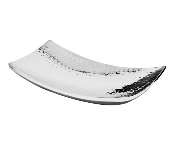 Schale Dekoschale Dallas, Edelstahl gehämmert hochglanzpoliert, 30 x 18 cm