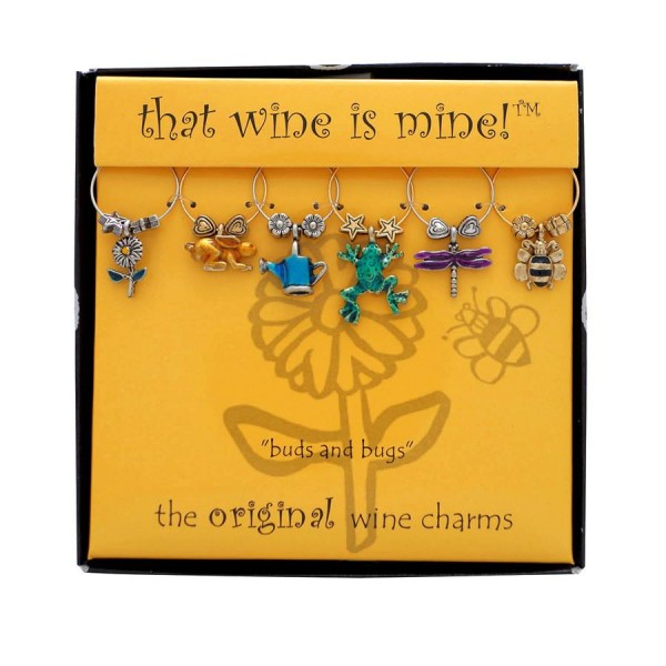 That Wine is Mine Buds and Bugs Wine Charms