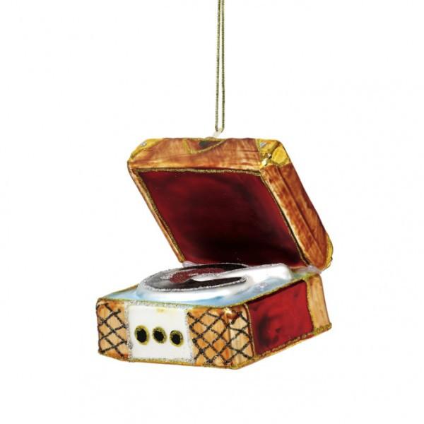 Retro Record Player Ornament