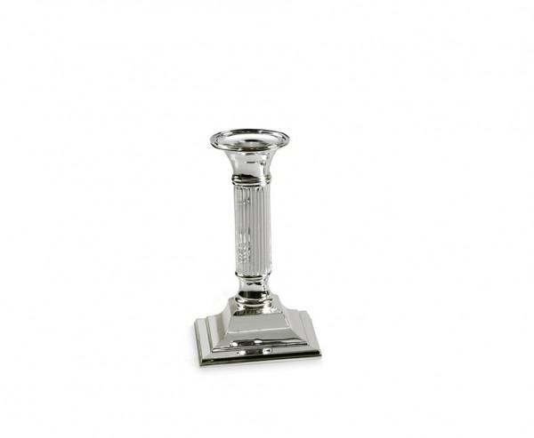Kerzenleuchter Lincoln für Stabkerze, kannelierter Schaft,edel versilbert, anlaufgeschützt, H 15 cm