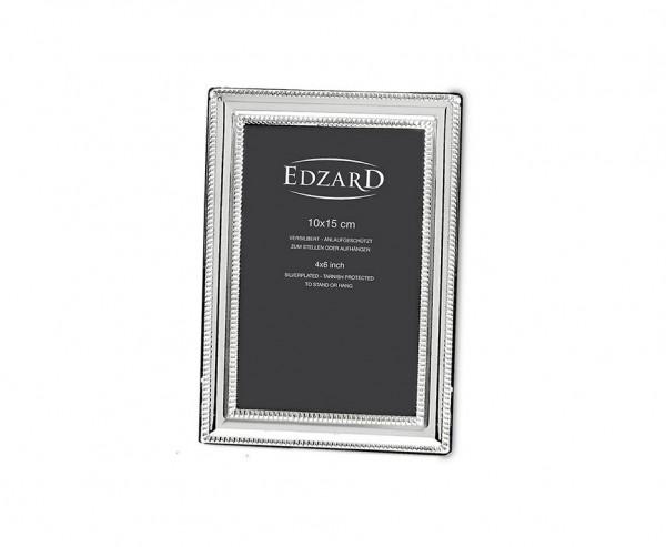 Fotorahmen Bilderrahmen Matera für Foto 10 x 15 cm, edel versilbert, anlaufgeschützt, 2 Aufhänger