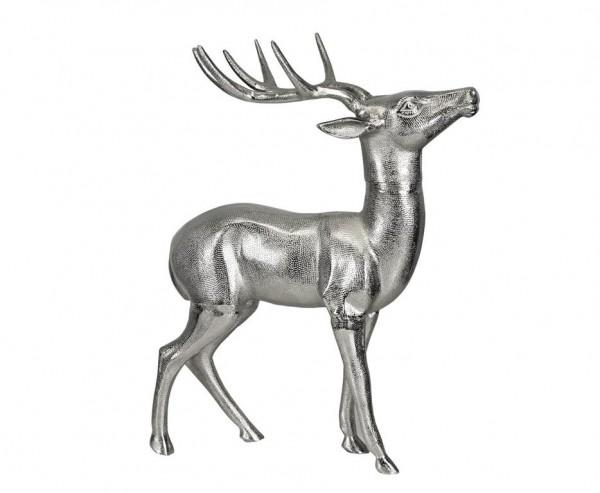 Deko Rentier, Aluminium vernickelt, Höhe 70 cm