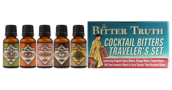 The Bitter Truth Cocktail Bitters Traveler`s Set 5 x 0,02 Liter