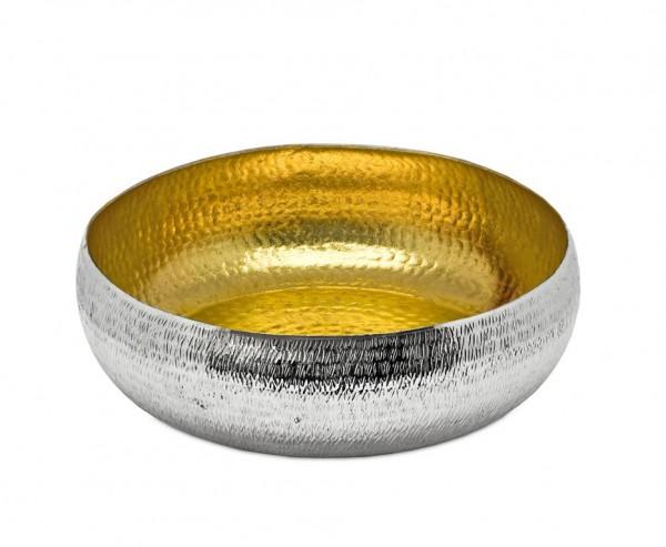 Schale Dekoschale Concordia, Reiskornmuster, innen Gold-Optik, Ø 35 cm