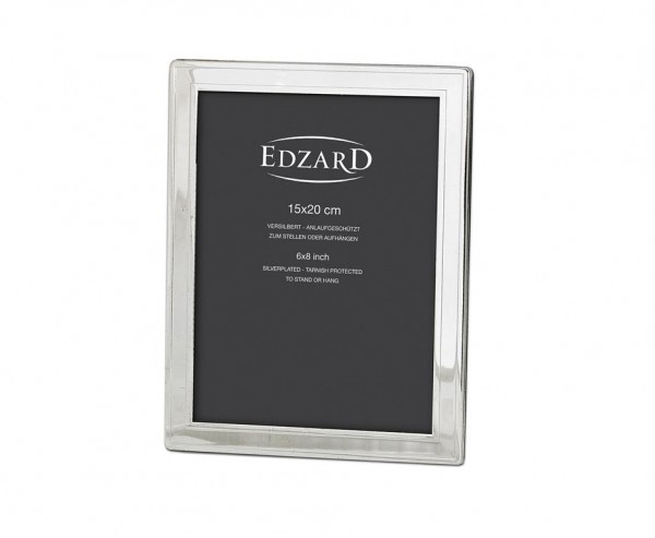 Fotorahmen Bilderrahmen Nardo für Foto 15 x 20 cm, edel versilbert, anlaufgeschützt, 2 Aufhänger