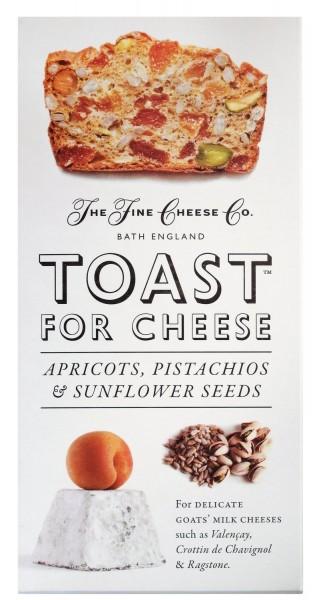 Toast für Käse mit Pistazien
