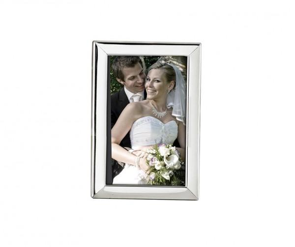 Fotorahmen Aosta für Foto 10 x 15 cm, edel versilbert, anlaufgeschützt, mit 2 Aufhängern