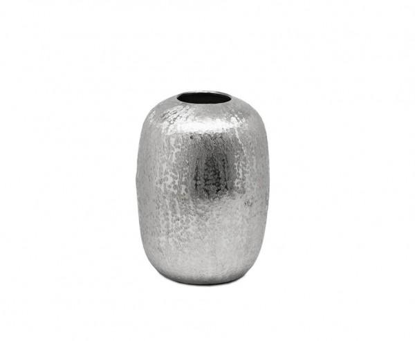 Vase Dekovase Britta, Aluminium vernickelt, Höhe 23 cm, Ø 19 cm