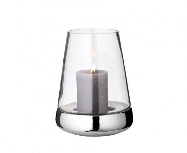 Windlicht Kerzenglas Bora, Glas und Keramik, Höhe 28 cm