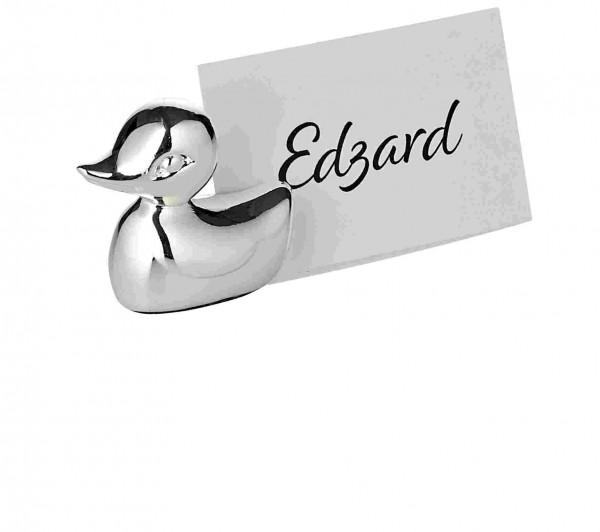6er Satz Tischkartenhalter Ente, Höhe 2 cm