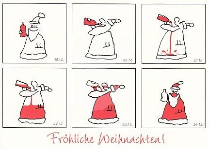 Flasche leer - Weihnachtsmann voll!