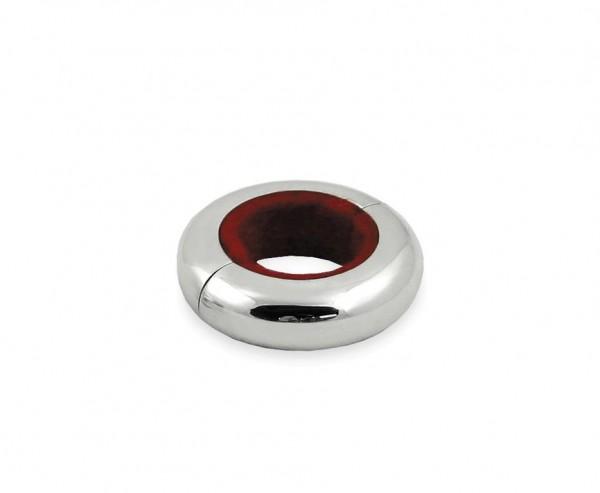 Tropfenpfänger Magnetum, 2 Hälften mit Magnetverschluss, edel versilbert, Ø 5 cm