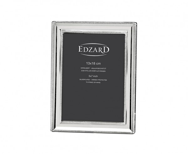 Fotorahmen Bilderrahmen Matera für Foto 13 x 18 cm, edel versilbert, anlaufgeschützt, 2 Aufhänger