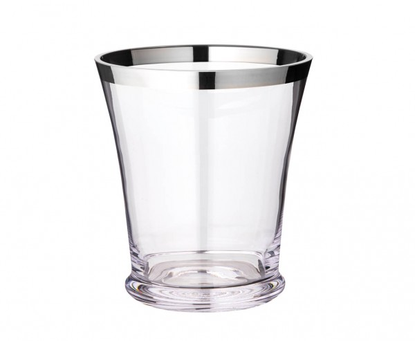 Flaschenkühler Reuben, mundgeblasenes Kristallglas mit Platinrand, Höhe 22 cm, Ø 20 cm