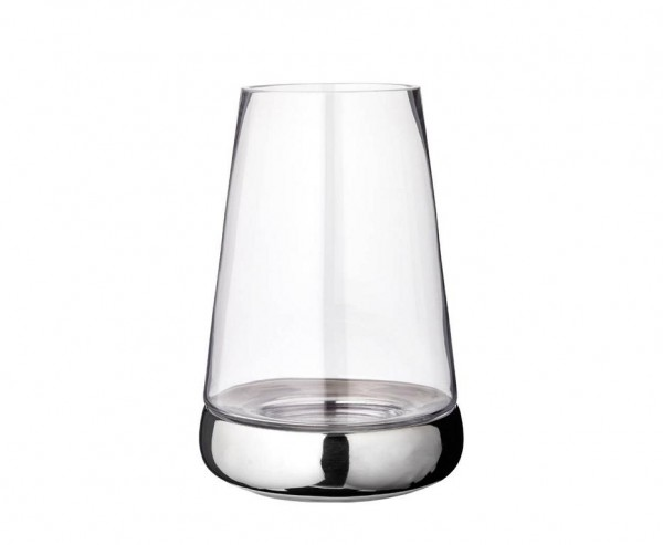 Windlicht Kerzenglas Bora, Glas und Keramik, Höhe 34 cm