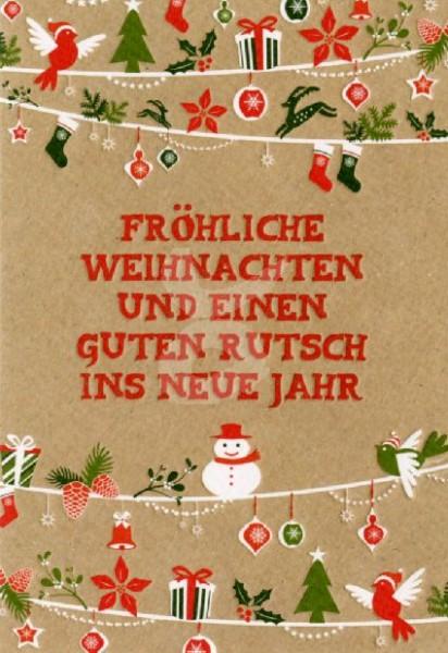 Fröhliche Weihnachten und einen guten Rutsch