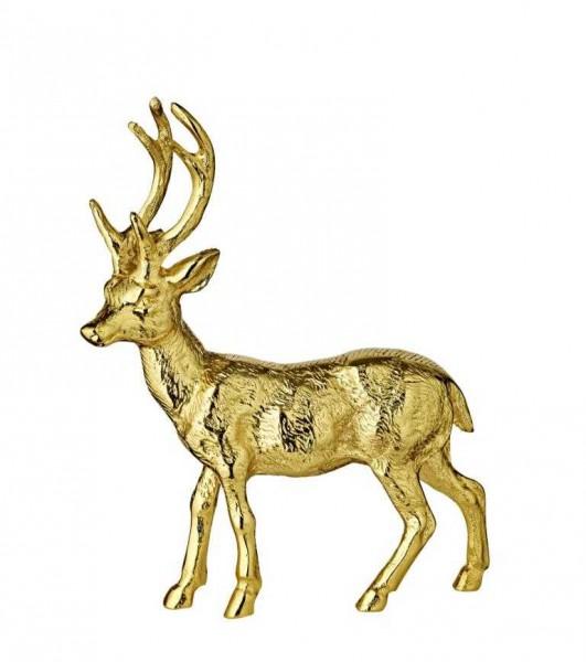 Deko Rentier, Gold, Höhe 27 cm