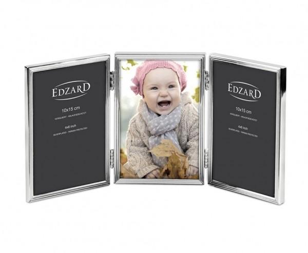 Fotorahmen Savona für 3 Fotos 10 x 15 cm, edel versilbert, anlaufgeschützt