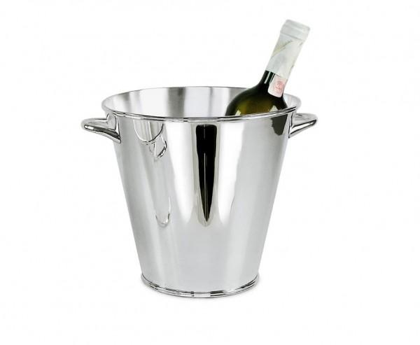 Sektkühler Flaschenkühler Calo mit Griffen, schwerversilbert, Höhe 21 cm, Ø 22 cm