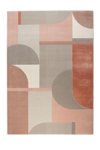 Hilton Teppich Grau/Pink