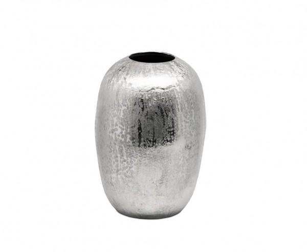 Vase Dekovase Britta, Aluminium vernickelt, Höhe 28 cm, Ø 22 cm