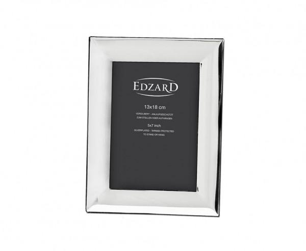 Fotorahmen Bilderrahmen Gela für Foto 13 x 18 cm, edel versilbert, anlaufgeschützt, mit 2 Aufhängern