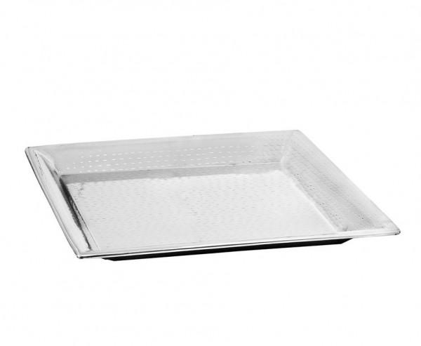 Tablett Serviertablett Niagara, quadratisch, Edelstahl hochglanzpoliert, 42 x 42 cm