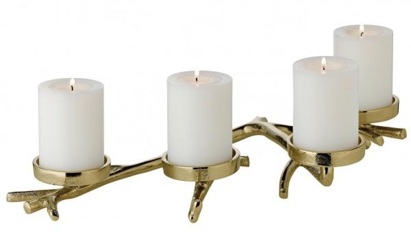 Kerzenhalter Zweig Gold L 42 cm