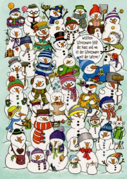 Welchem Schneemann fehlt die Nase?