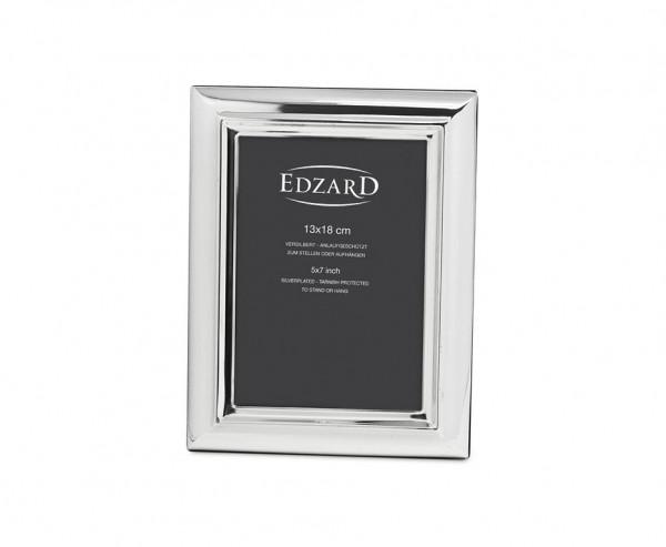 Fotorahmen Florenz für Foto 13 x 18 cm, edel versilbert, anlaufgeschützt, mit edlem Holzrücken
