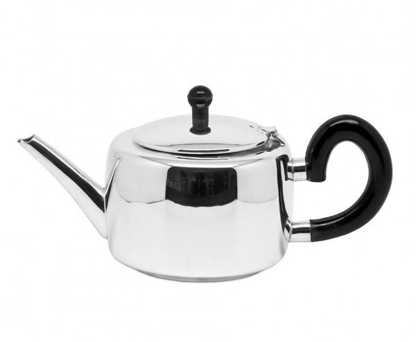 Teekanne Sheffield, schwerversilbert, Länge 27 cm, Breite 14 cm, Höhe 13 cm, Füllmenge 1,2 Liter