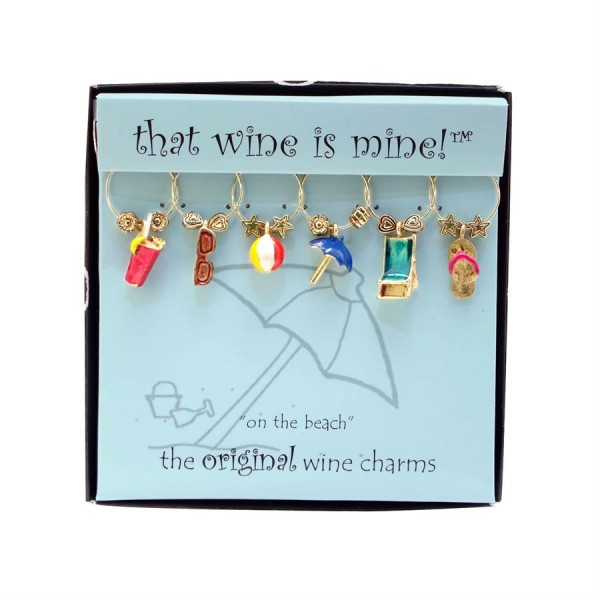 That Wine is Mine On The Beach Wine Charms