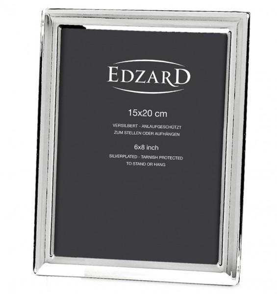 Fotorahmen Bilderrahmen Terni für Foto 15 x 20 cm edel versilbert, anlaufgeschützt, mit 2 Aufhängern