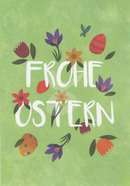 Frohe Ostern Grußkarte