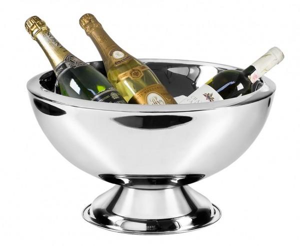 Champagnerkühler Sektkühler Cadiz, Edelstahl hochglanzpoliert, doppelwandig, Ø 43 cm