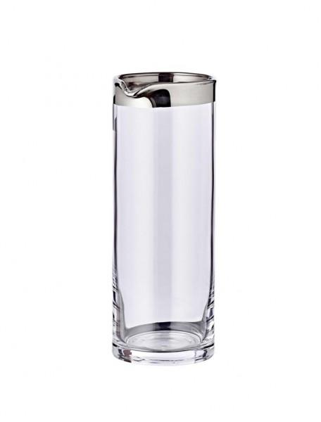Karaffe Anis, mundgeblasenes Kristallglas mit Platinrand, Höhe 21 cm, ø 9 cm, Füllmenge 0,75 Liter
