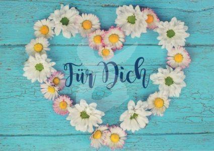 Für Dich (Blumenherz) Kunstkarte