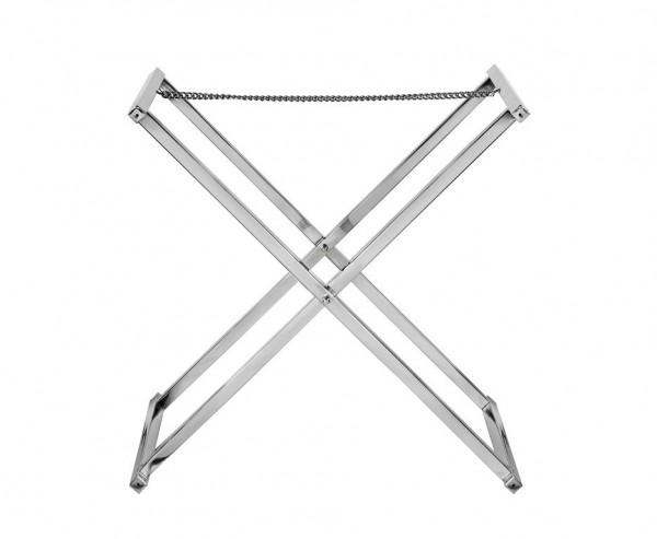 Tablettständer Carry, Edelstahl glänzend vernickelt, Höhe 58 cm