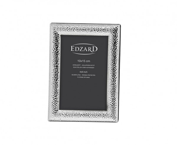 Fotorahmen Marsala für Fotos 10 x 15 cm, edel versilbert, anlaufgeschützt, mit 2 Aufhängern